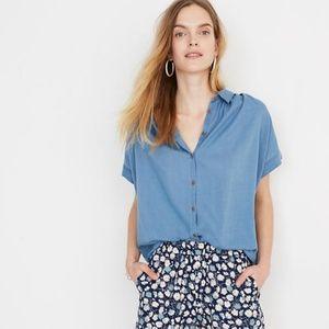Madewell Central Shirt in Bright Indigo Blue